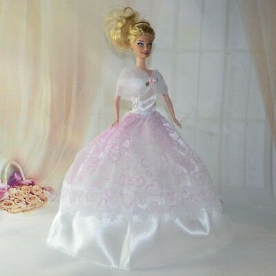 Handmade Party Clothes Fashion Dress for Noble Barbie Doll JAB529