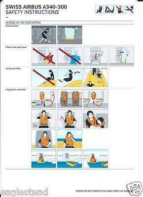 Safety Card - Swiss International Air Lines - A340 300 - c2009 (S3579)