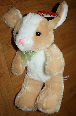 """NWT Plush Beige Bunny Riabbit - 10"""" -  50233 - TOY FOR  EASTER  BY AUROA ~"""