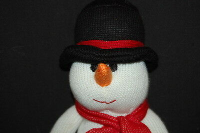 "14"" HOLIDAY CHRISTMAS SOCK SNOWMAN SCARF GLOVES HAT DECORATION  PLUSH STUFFED"