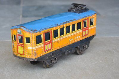 Vintage Windup SN Trademark 159 Litho Cable Car/Tram Tin Toy, Japan