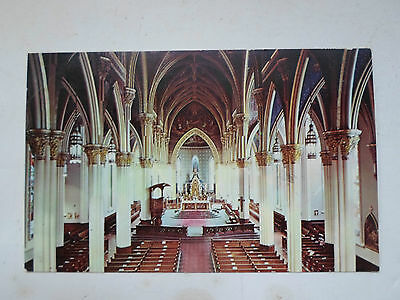 Interior of the Sacred Heart Church, Notre Dame, Indiana - Postcard R