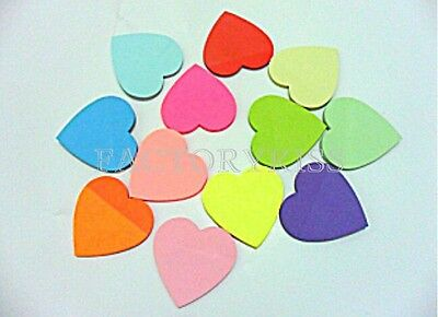 Heart Sticker Post-it Book Marker Memo Sticky Note Paper Stationery WWT