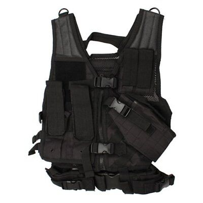 NEW Vism Childrens Tactical Vest Black CTVC2916B FREE SHIPPING