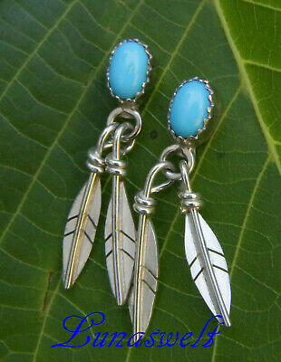 Indianer Ohrstecker 925  Truly flying Turquoise