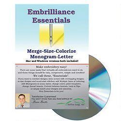NEW Embrilliance Essentials Embroidery Machine Software FREE SHIPPING