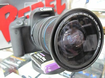 PL-C Ultra Wide Angle Macro Fisheye Lens for Canon Eos Digital Rebel SL1 T5i XTi