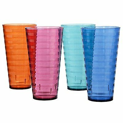 NEW Plastic 28oz. Iced Tea Cup Tumblers Break resistant 8 Pieces FREE SHIPPING