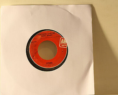 """STING - FORTRESS AROUND YOUR HEART / CONSIDER ME GONE - VINYL 7"""" 45 SINGLE"""
