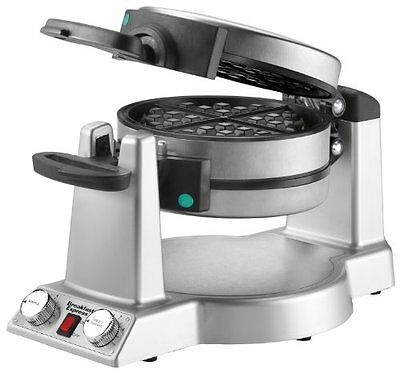 NEW Waring WMR300 Belgian Waffle & Omelet Maker Brushed Stainless Steel