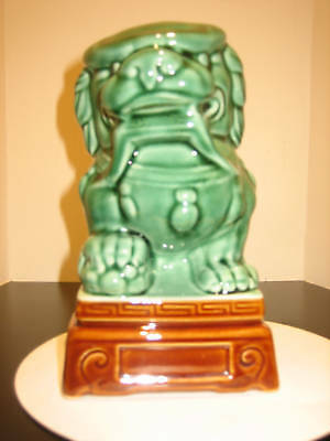 Chinese Foo Dog Lion Oriental Asian Art Ceramic Pottery