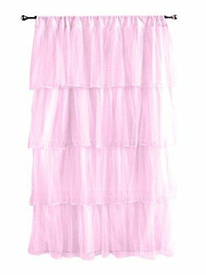NEW Tadpoles Multi Layer Tulle Curtain Panel Pink FREE SHIPPING washable nursery