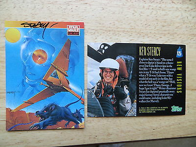 93' STAR WARS GALAXY I LUKE & HIS T-16 FLYER CARD SIGNED KEN STEACY