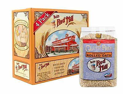 NEW Bobs Red Mill Gluten Free Extra Thick Rolled Oats 32 ounce Pack of 4