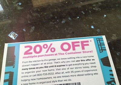 The Container Store 20% Entire Off