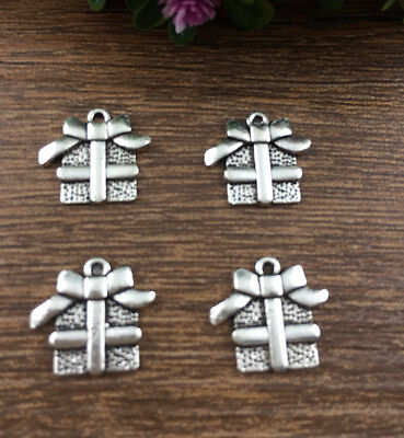 Wholesale 10pcs Tibet silver Christmas Packs Pendant beaded Jewelry Findings