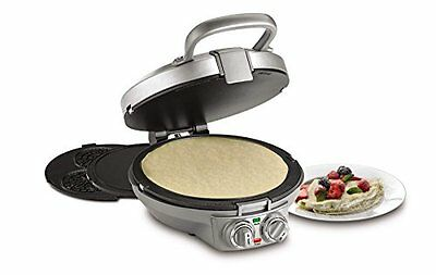 Cuisinart CPP 200 International Chef Crepe Pizzelle Pancake Plus Stainless Steel