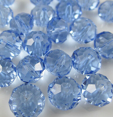 NEW Jewelry Faceted 30pcs Light Blue #5040 6x8mm Roundelle Crystal Beads DIY