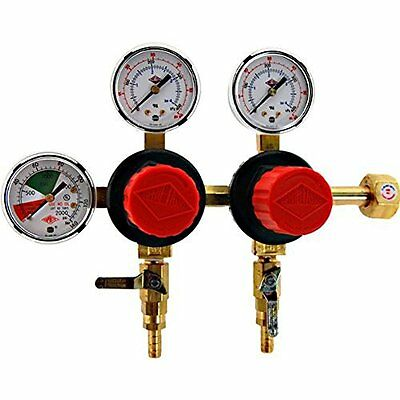 NEW Taprite T752HP Two Product Dual Pressure Kegerator Co2 Regulator