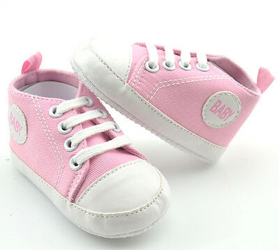 Newborn soled Infant Unisex Baby Shoes Girl Boy Toddler 6-12 Months X08