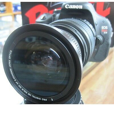 fisheye for Canon Eos Digital Rebel T5i sl1 T2i T3 T3i XTi XSi 1100d 3 lens kit