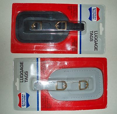 Vintage 1991 NEW Pair American Tourister Deluxe Luggage Name Tags