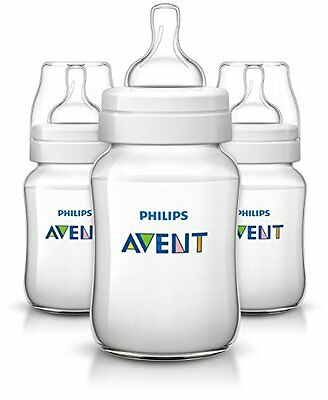 NEW Philips AVENT Classic Plus BPA Free Polypropylene Bottles 9 Ounce Pack of 3