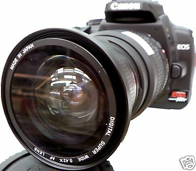 Wide Angle Macro Fisheye lens for Canon Eos Digital Rebel sl1 t5i T3i T2i  58mm