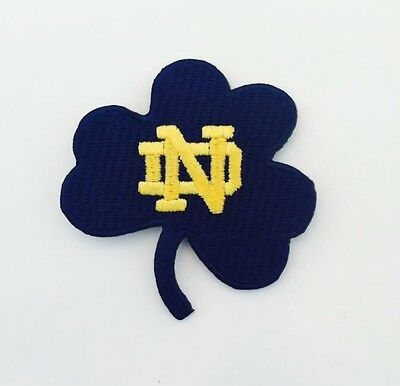 """Notre Dame Fighting Irish Vintage Embroidered Iron-On Patch (NOS) 2.50"""" x 2.50"""""""