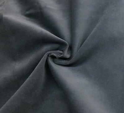 Gray Cotton Velvet Velour Fabric Upholstery Material Sold by The Yard 54 in Wide