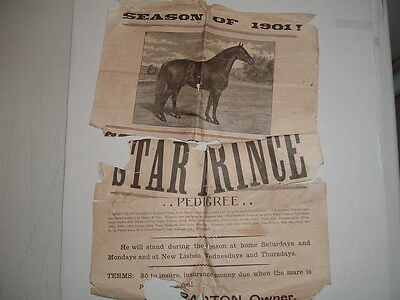 "1901-24 (2) ""Horse Racing,Original Poster & Race Entry LONG List""DeRuyter,N.Y.!"