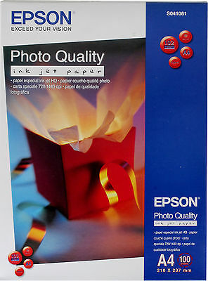 Epson Paper S041061 Photo Quality Inkjet Paper 102g/m² 100 Sheets A4