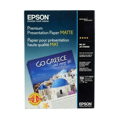 50 Sheets of A3 Size Epson Paper S041261 Mattte Heavyweight Paper 167gsm