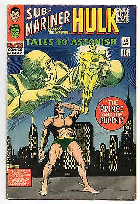 Tales to Astonish Vol 1 No 78 Apr 1966 (VG+ to FN-) Marvel Comics, Silver Age