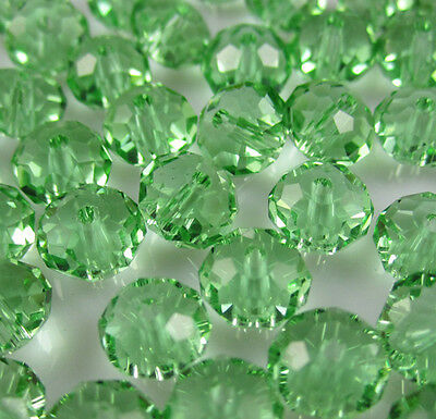 NEW Jewelry Faceted 100 pcs Green #5040 3x4mm Roundelle Crystal Beads DIY