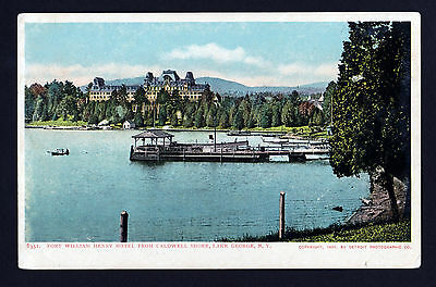 1904 Fort William Henry Hotel from Caldwell Shore Lake George New York postcard