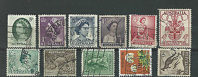 Small group of 11 stamps from AUSTRALIA