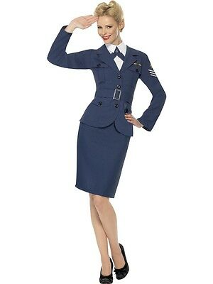 FANCY DRESS LADIES RAF OFFICER WW2 WARTIME 1940s FORTIES ROYAL AIR FORCE