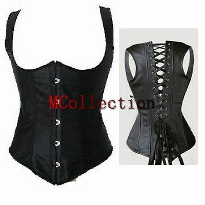 Brocade Overbust Boned Lace up Corset Basque Top SEXY Lingerie Plus Size 5XL