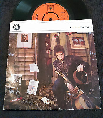 V. RARE BOB DYLAN PHOTO - SLEEVE 1965 INDEPENDENT PHOTO - SLEEVES LTD 45 RPM 7""