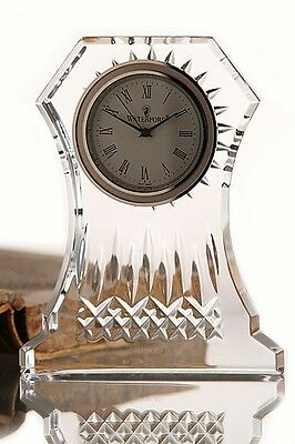 Waterford Crystal Lismore Large Clock Timepiece, Elegant Diamond and wedge cuts!