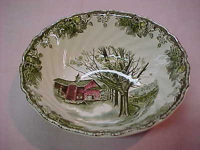 """Johnson Brothers Friendly Village 8 1/4"""" Round Vegetable Serving Bowl England"""