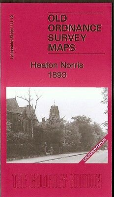 JUST RELEASED, DETAILED O.S MAP HEATON NORRIS, STOCKPORT (COLOUR VERSION) 1893