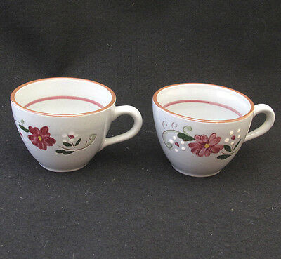 STANGL GARLAND CUPS MAROON FLOWERS set of two