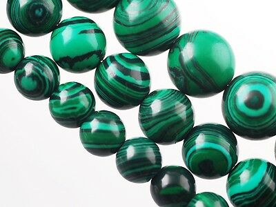 50pcs 6mm Round Bright Green Malachite Gemstone Stone Findings Loose Spacer Bead