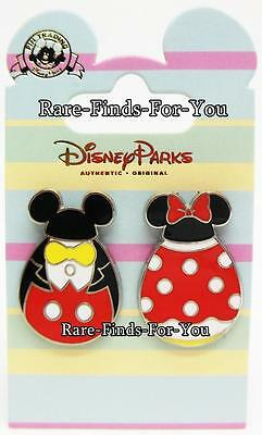 Disney Parks Mickey and Minnie Mouse as Easter Eggs with Ear Hats Pin Set (NEW)