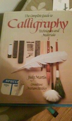 hardcover calligraphy tecniques and materials judy martin