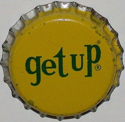Vintage soda pop bottle cap GET UP cork lined unused new old stock condition