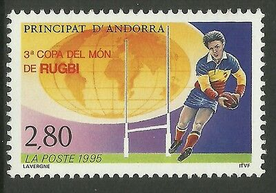 ANDORRE (FRENCH) 1995 RUGBY UNION WORLD CUP 1 value MNH