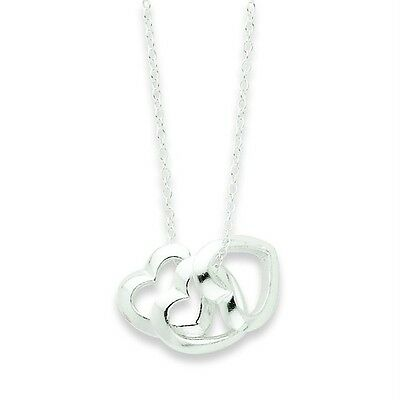 "Ladies .925 Sterling Silver 1.4mm High Polished Fancy Heart  18"" Chain Necklace"